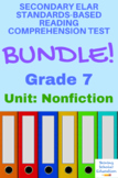 Grade 7 Prentice Hall Lit. Unit 3 Nonfiction Reading Tests Bundle (13 total)