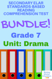 Grade 7 Prentice Hall Lit. Unit 5 Drama Reading Tests (5 tests, 121 pages)