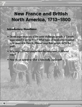 Grade 7 REVISED Ontario History Curriculum Companion
