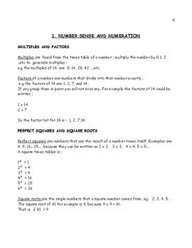 Grade 7 Revision booklet.