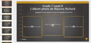 Grade 7 (SK Level 6) Core French My Photo Album Unit Bundle