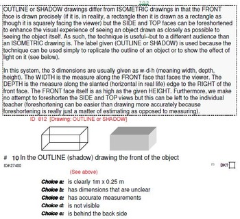 Grade 7 UNIT: Isometric+ (American Ruler) Drawings (4 worksheets;7 quizzes)