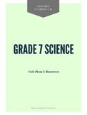 Grade 7 Science: Unit Plans & Experiments