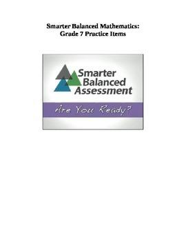 Grade 7 Smarter Balanced Released Practice Items