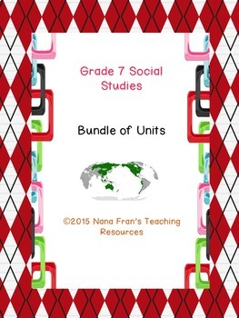 Grade 7 Social Studies Bundle of Units