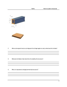 Structures Review Questions - Grade 7