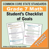 Grade 7 Student's 2-Page Checklist of Math Goals for CCSS