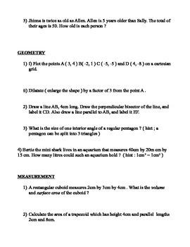 Grade 7 Summative Quiz