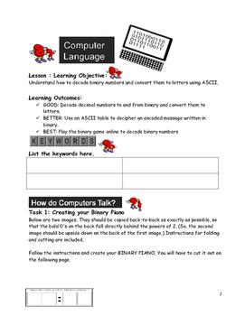 Grade 7 Year 7 ICT Computer Basics Computer Language g ICT Workbook