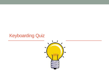 FREE-Grade 7 Year 7 ICT Computer Basics - Keyboarding Quiz