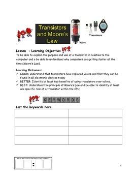 FREE-Grade 7 Year 7 ICT Computer Basics Moores Law h ICT Workbook