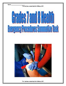Grade 7 and 8 Health - Emergency Procedures
