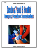 Grade 7 and 8 Health - Emergency Procedures