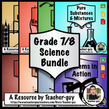 Grade 7 and 8 Ontario Science Worksheet Bundle