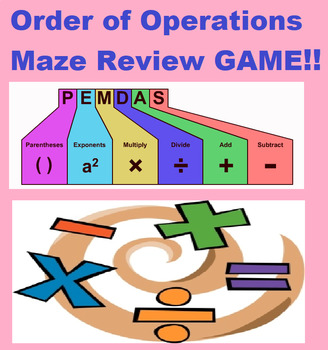 Grade 7 and 8 Order of Operations Maze Review Game