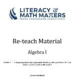 Grade 8/9 - Algebra I - A.LE.1, A.LE.2, A.LE.3 and A.LE.5