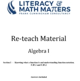 Grade 8/9 - Algebra I - F.IF.1 and F.IF.2