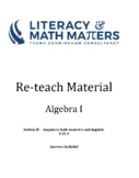 Grade 8/9 - Algebra I -  F.IF.3