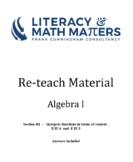 Grade 8/9 - Algebra I - F.IF.4  and  F.IF.5