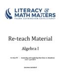 Grade 8/9 - Algebra I - F.IF.7 and F.IF.9