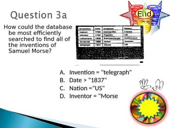 Grade 8, 9 Year 8, 9 ICT Database Dual Interactive Quiz No Answers