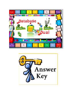 Grade 8, 9 Year 8, 9 ICT Database Dual Interactive Quiz Answer Key