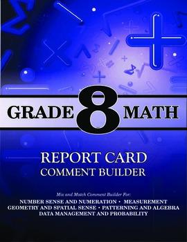 Grade 8 Bundle: Math and Language Comment Builder