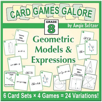 Grade 8 CARD GAMES GALORE: Geometric Models and Expressions