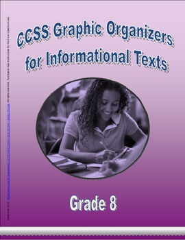 Grade 8 CCSS Graphic Organizers for Informational Texts