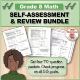 Grade 8 Math Self-Assessment BUNDLE, Forms A-D { Print & Digital }