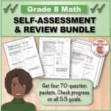 Grade 8 Math Self-Assessment BUNDLE, Forms A-D { Print & D