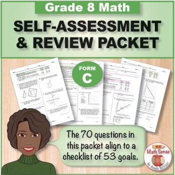 Grade 8 CCSS Math Self-Assessment and Review Packet ~ Form C