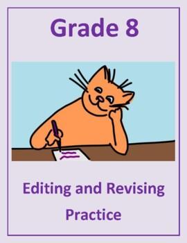 Grade 8 Common Core Language: Editing & Revising Practice Bundle