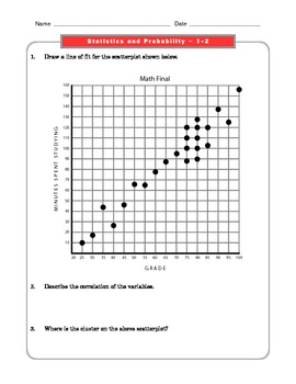 Grade 8 Common Core Math Worksheets: Statistics and Probability 8.SP 1-4