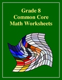 Grade 8 Common Core Math Worksheets: Statistics and Probab