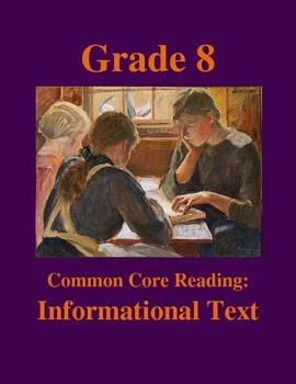 Grade 8 Common Core Reading: Informational Text --Tiffany Lamps