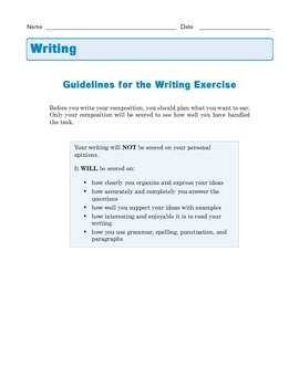 Grade 8 Common Core Writing Prompt - Fictional Narrative: Short Story
