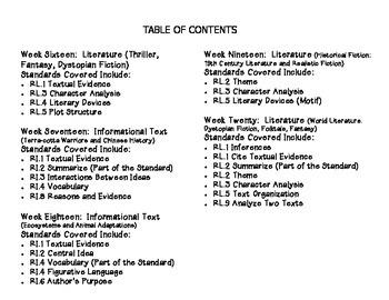Grade 8 Daily Common Core Reading Practice Week 16-20 {LMI}