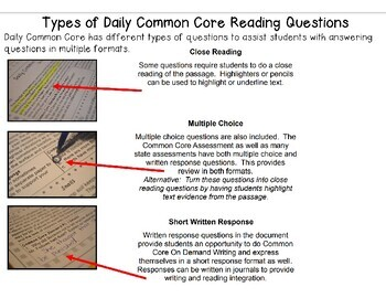 Grade 8 Daily Common Core Reading Practice Weeks 1-20