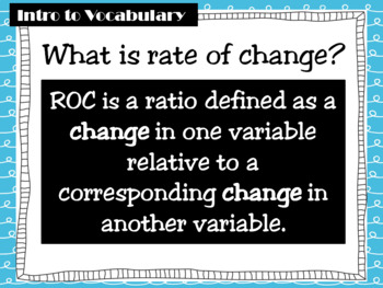 Math Grade 8: Determining Rate of Change