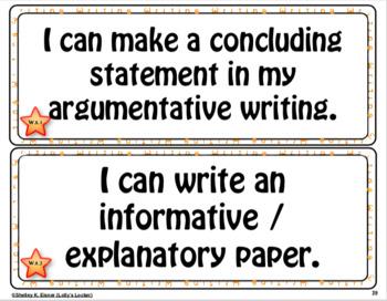 Grade 8 ELA Common Core I Can Statements