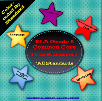 Grade 8 ELA Common Core I Can Statements