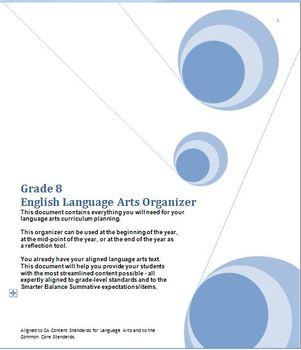 Grade 8 English Language Arts, CA Content Standards (CCS), Midyear Evaluation