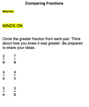 Grade 8 Fractions Unit