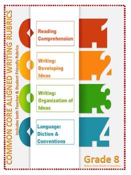 Grade 8: Teacher/Student Friendly Common Core/PARCC Aligned Writing Rubrics