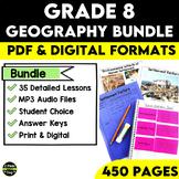 Grade 8 Geography Bundle Ontario Curriculum