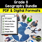 Grade 8 Geography Bundle Ontario Curriculum