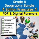 Grade 8 Geography Units Ontario Curriculum FRENCH Bundle