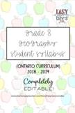 Grade 8 Geography Syllabus (Parent/Student) - Ontario Curriculum
