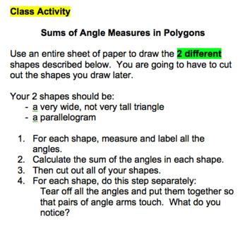 Grade 8 Geometry (Angle Relationships & Transformations) Unit